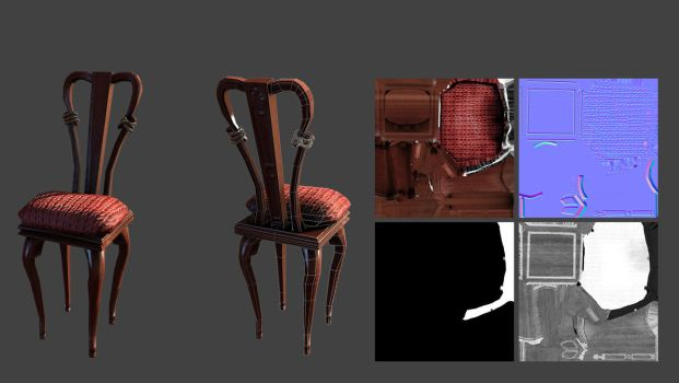 Stylised Victorian Chair by CentificGrafics