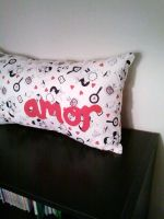 Cute Couple Amor Pillow by msmegas