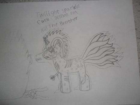 Friends Drawing - Demon Ponies Part 1- Twilight Sp by super-pokefan93