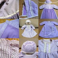baby dress and bonnet by orange-peel-eater