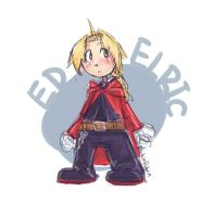Ed Elric Chibi by rockinrobin