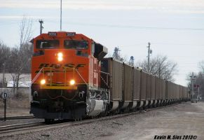 Factory Fresh BNSF SD70ACe # 9056 solo empty coal by EternalFlame1891