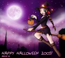 .:Aerith the Halloween Witch:. by CapricornSun83