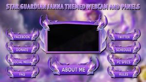 Star Guardian Janna Themed Webcam and Panels by Syrdni