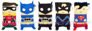 Dc heroes phone cozy by sequinjar