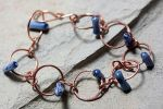 Blue Coral and Copper Bracelet by Ironmountain01