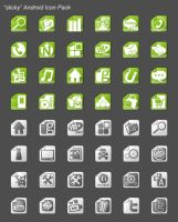 sticky android icon pack by nanozfun
