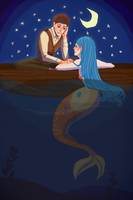 Mermaids and Sailors by Lindodo