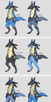 Lucario Variations by CoryKatze