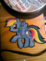 Rainbow Dash Embroidered patch by ravenlady13