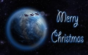 Merry Christmas Earth Wallpaper by ChiaraLily9