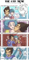 Chi's OTPMeme:Bulma and Vegeta by LauraDoodles