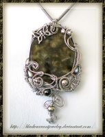 Big Labradorite Pendant by blackcurrantjewelry