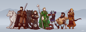 Pathfinder Party by Blazbaros