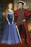 Tudor Disney Couples Phillip and Aurora Briar Rose by SerenDippityDooDah