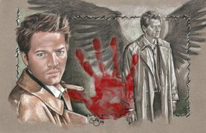 "Castiel ""The Hand Of God"" by scotty309"