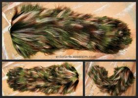 Camo Yarn Tail by EvlonArts