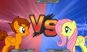 shoyru255 vs Fluttershy by Imp344