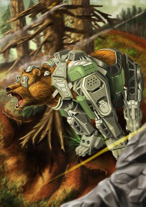 WoG-Grizzly Bear by Loone-Wolf