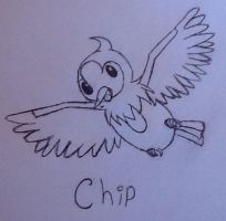 Chip the starly by Thekawaiiapple