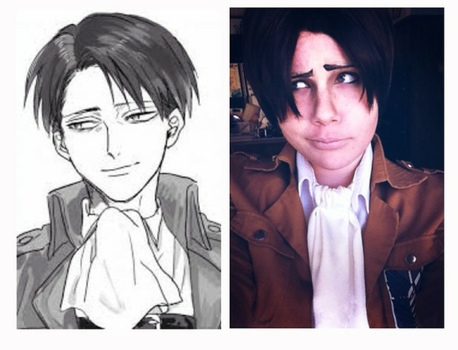 Levi's smile by AttackOn-Cosplay