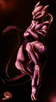 Colored: Mewtwo by Legendary-Darkness