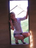 B in Window with Sunlight by candhphotography