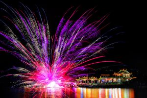 The Floating Lotus Fireworks by SAMLIM