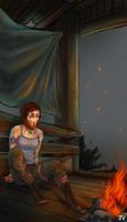 Tomb Raider: base camp by clockworkViper