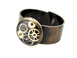 Gear Ring - Clockpunk Ring by IndustrialSwank
