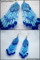 Blue AB Earrings by Natalie526