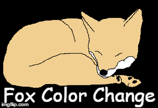 Fox Color Change Gif by RaiRaySUNSHINE