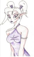 Elf in Purple by Dragonkitty13