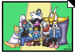 Undertale 1st year anniversary (Pacifist) by HTF-ADTI-MLP100606