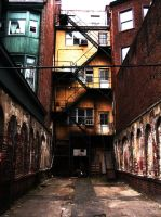 Rainbow in the Alley by ethanfunkel
