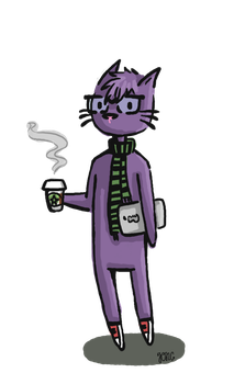 Hipster Kitty. by AlmostLikeNormal