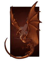 the Hunted Copper Dragon by Rubilight