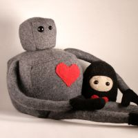 Small Cashmere Robot Plushie by Saint-Angel
