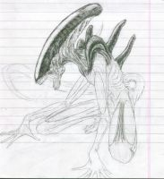 sketch 1 alien by konron