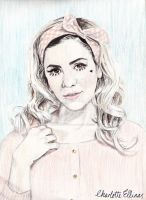 Marina and the Diamonds Coloured Pencil Drawing by ArtbyCharlotte