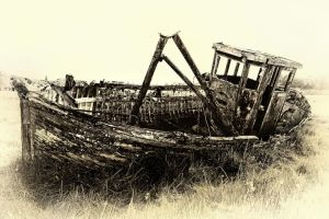 Riverside Wreck by Coigach