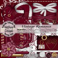 Vintage Romance Digi Scrap Kit by netfairy23