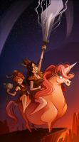 Vikings and Unicorns by FreakyPicasso