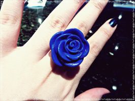 Blue Rose Ring by Cateaclysmic