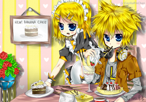 Maid Cafe (Lineart by sonnyaws) by CeciliaRinChan