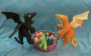 A-tiskit, A-taskit, an Easter Dragon Basket by Skylanth