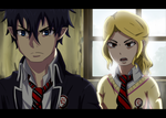 Ao no Exorcist Fake Screenshot by Paige1444