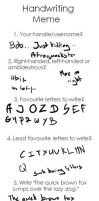 A HANDWRITING MEME? by afroquackster