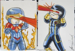 Cyclops Sketch Cards by JPepArt