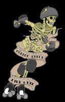 roller derby zombie by yayzus